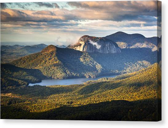 Table Rock Sunrise - Caesars Head State Park Landscape Canvas Print
