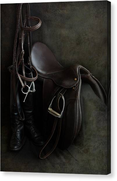 Tack And Boots Canvas Print
