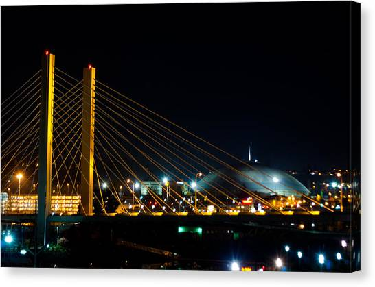 Tacoma Dome And Bridge Canvas Print