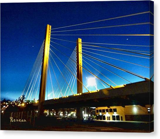 Tacoma W A Cable Stayed Bridge Canvas Print