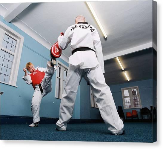 Taekwondo Canvas Print - Tae Kwon Do by Joti/science Photo Library