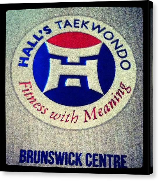 Taekwondo Canvas Print - #taekwondo #brunswick #gomaddy by Katie Ball