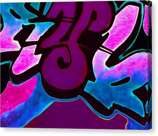 Graffiti Walls Canvas Print - Tagged by Sharon Lisa Clarke