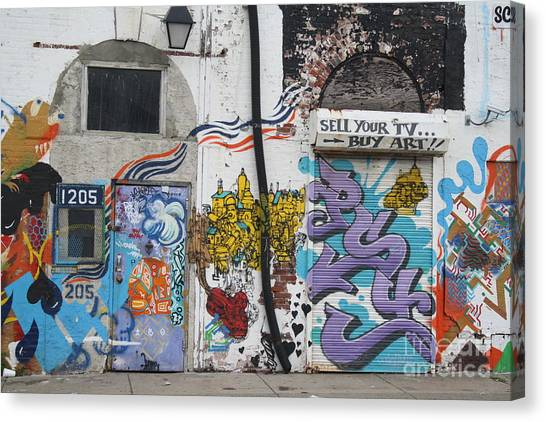 Tagging North Philly Canvas Print