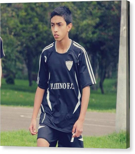 Soccer Players Canvas Print - #tagstagram.app #soccer #football by Daniel Daniel