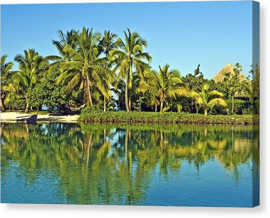Tahitian Lagoon Canvas Print