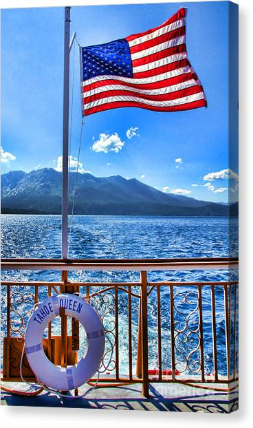 Tahoe Queen Lake Tahoe By Diana Sainz Canvas Print