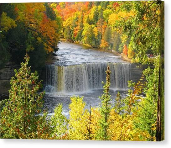 Tahquamenon Falls In October Canvas Print