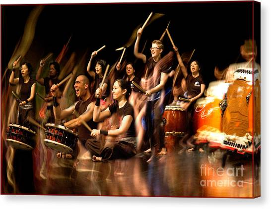 Taiko Flow Canvas Print