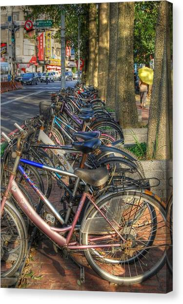 Taiwan Bikes Canvas Print