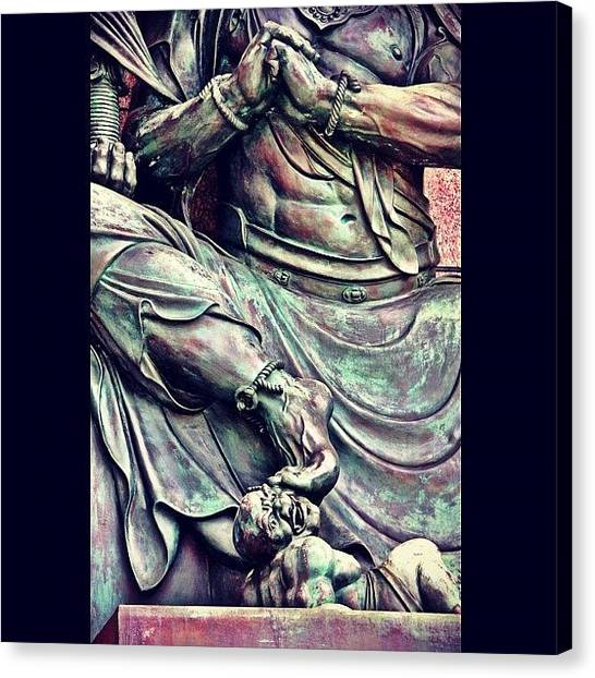 Hell Canvas Print - #taiwan #buddhist #temple #taiwanese by Shawn Who