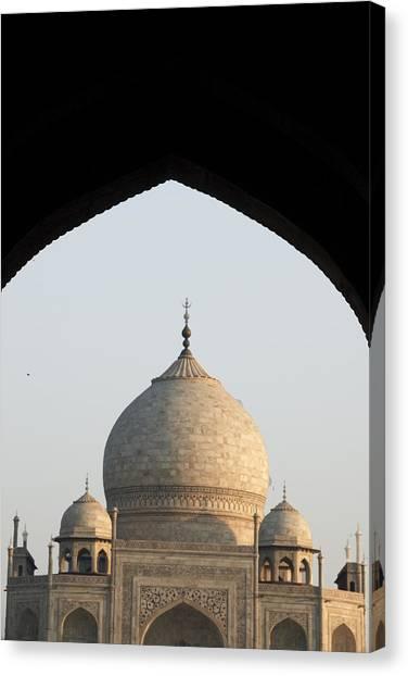 Taj And Arch Canvas Print