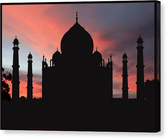 Taj Mahal Silhouette Canvas Print