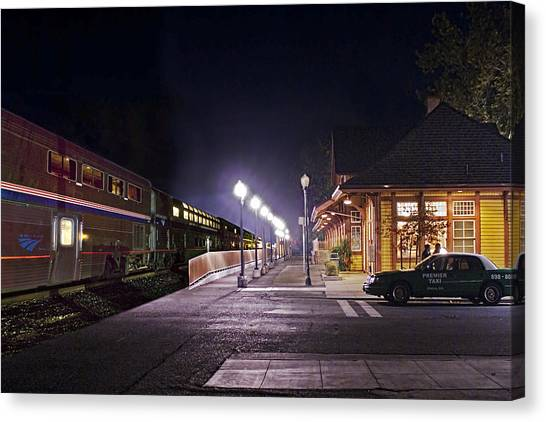 Take A Ride On Amtrak Canvas Print
