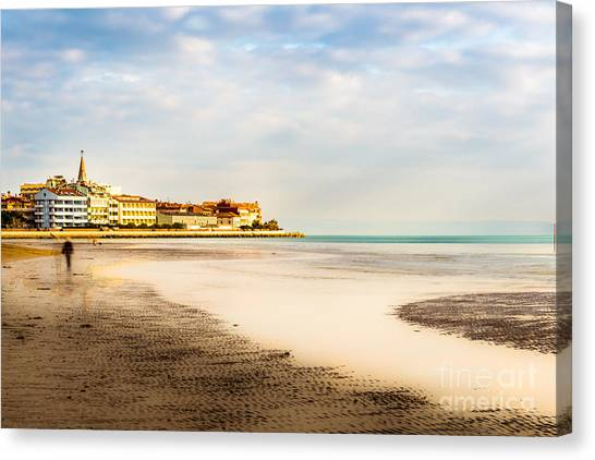 Take A Walk At The Beach Canvas Print