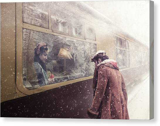 Retro Canvas Print - Take Care by Stanislav Hricko