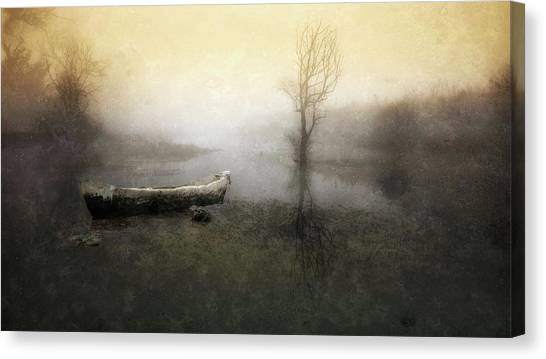 Take Me Down To My Boat In The River Canvas Print by Charlaine Gerber