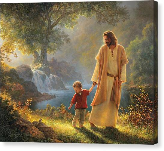 Back Canvas Print - Take My Hand by Greg Olsen