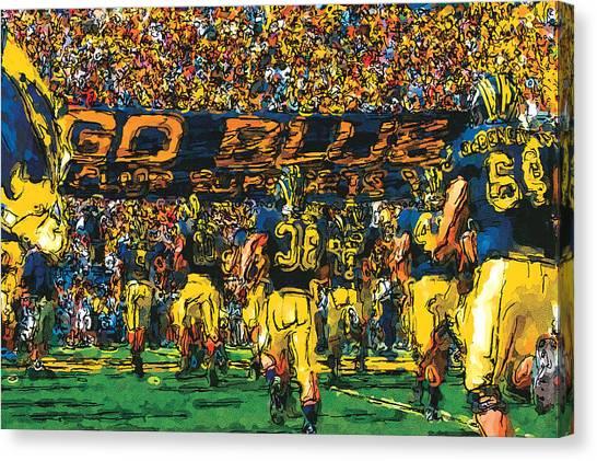 Big Ten Canvas Print - Take The Field by John Farr