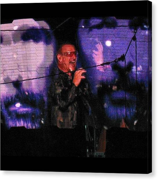 U2 Canvas Print - Taken At A U2 Concert Several Years by Monica Hart