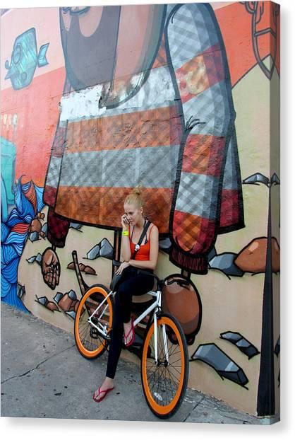 Taking A Break Canvas Print by Rosie Brown