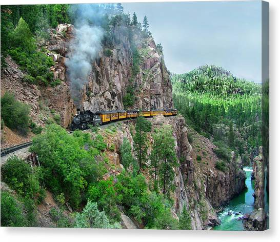 Rio Grande Canvas Print - Taking The Highline Home by Ken Smith