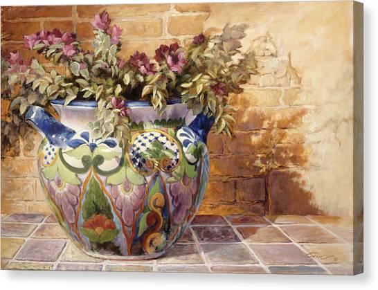 Talavera Morning Canvas Print by Gini Heywood