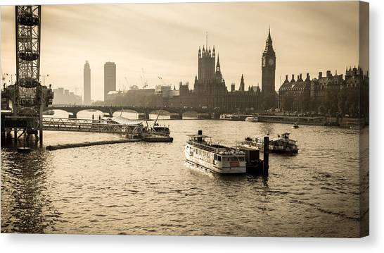 Stephen Barry Canvas Print - Tale Of Two Cities by Glenn DiPaola