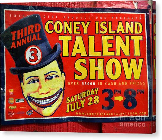 Talent Show Canvas Print