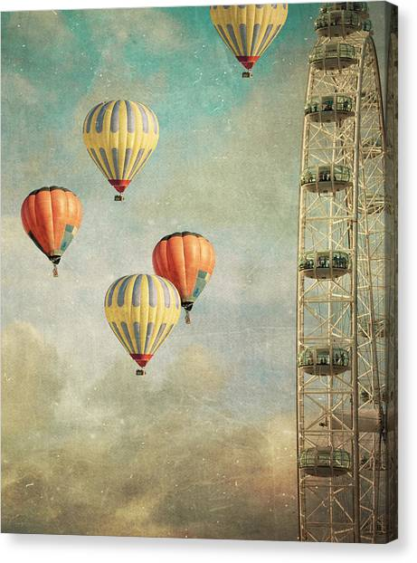 Hot Air Balloon Canvas Print - Tales 485 by Violet Gray
