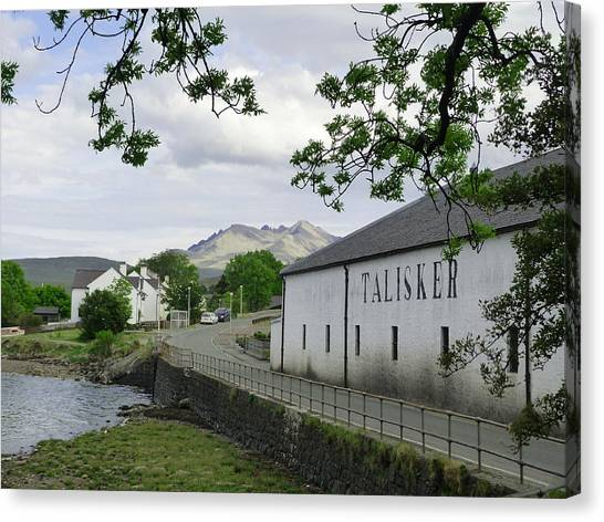 Scotch Canvas Print - Talisker Distillery by Phil Tomlinson