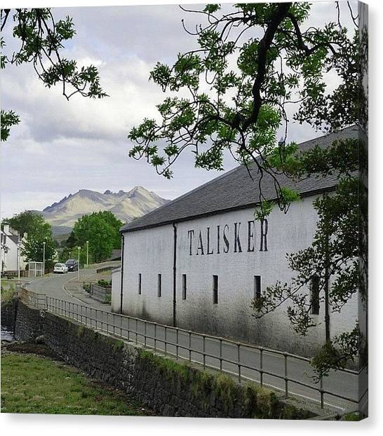 Scotch Canvas Print - Talisker Whiskey Distillery On The Isle by Phil Tomlinson