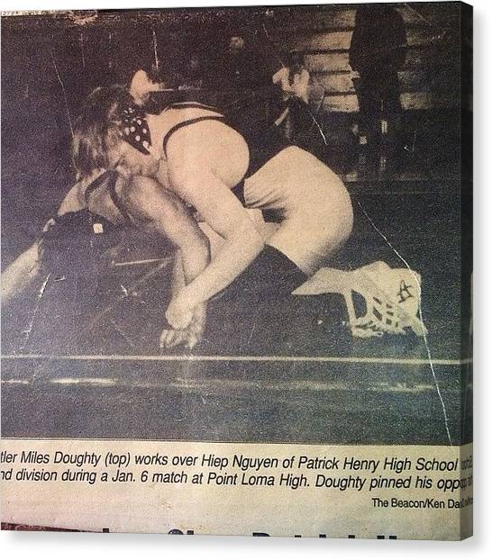 Wrestling Canvas Print - Talk About A Throwback!! So Dope That I by Slightly Stoopid