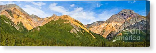 Talkeetna Mountains Canvas Print by Chris Heitstuman
