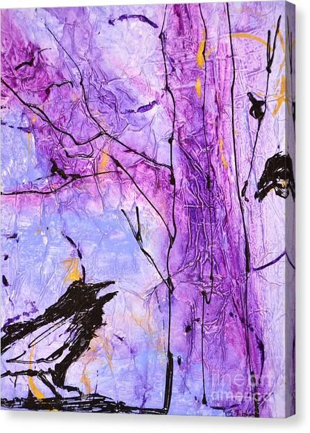 Talking Crows Canvas Print
