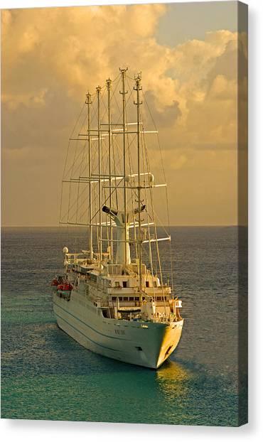 Tall Ship Cruise Canvas Print