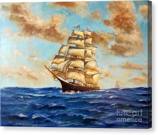 Tall Ship On The South Sea Canvas Print
