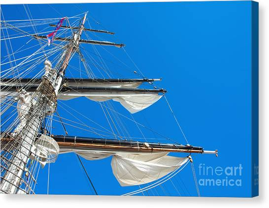 Tall Ship Yards Canvas Print