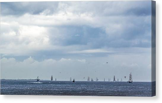 Tall Ships' Exodus Canvas Print