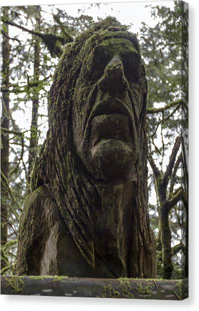 Tall Tales Bust Canvas Print by Rick Starbuck