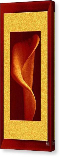 Tall Yellow Rose Canvas Print