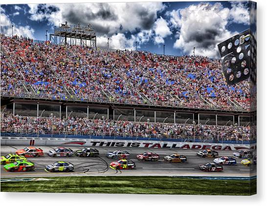 Nascar Canvas Print - Talladega Superspeedway In Alabama by Mountain Dreams