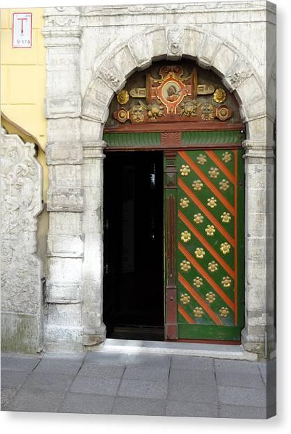 Tallinn Doorway Canvas Print