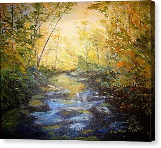 Tallulah River Color Canvas Print by Barbara Pirkle