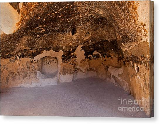 Talus Housefront Room Bandelier National Monument Canvas Print