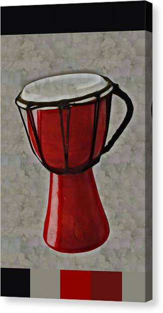 Djembe Canvas Print - Tam Tam Djembe - S01glfr1b3 by Variance Collections