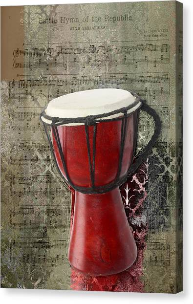 Djembe Canvas Print - Tam Tam Djembe - S02a by Variance Collections