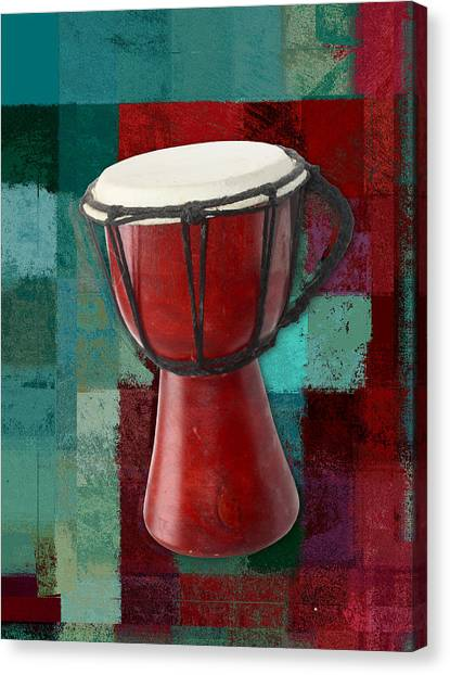 Djembe Canvas Print - Tam Tam Djembe S03a by Variance Collections