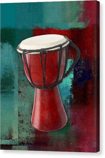 Djembe Canvas Print - Tam Tam Djembe - S03ab02 by Variance Collections