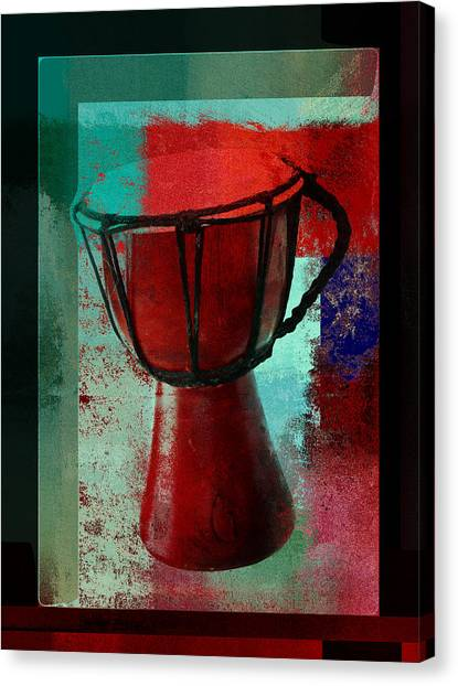 Djembe Canvas Print - Tam Tam Djembe - S222a by Variance Collections
